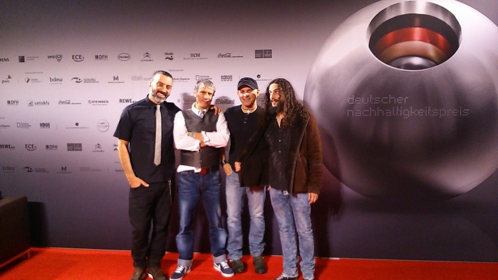 The Fre Electric Band en el Photo call de los Blue Angel Awards